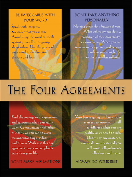 graphic about The Four Agreements Printable titled The 4 Agreements Formal World wide web